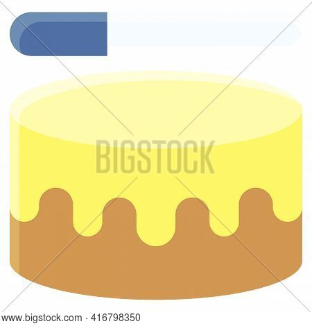 Cake Decorating Icon, Bakery And Baking Related Vector Illustration