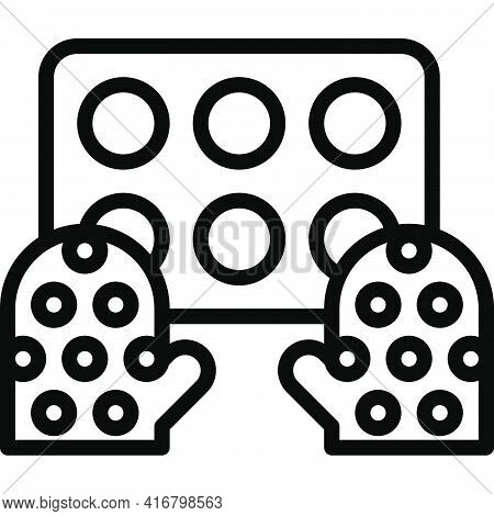 Oven Glove Icon, Bakery And Baking Related Vector Illustration