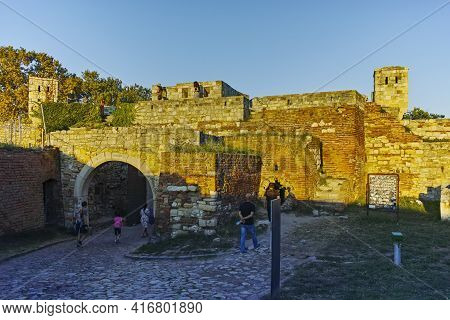 Sunset View Of Belgrade Fortress, Serbia