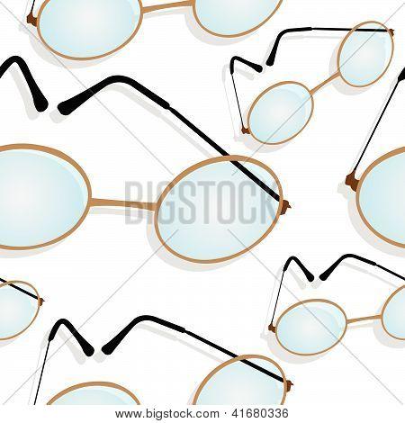 Glasses Shadowed Pattern
