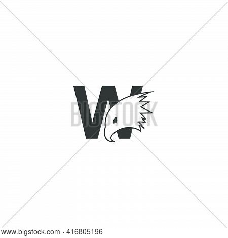 Letter W Logo Icon With Falcon Head Design Symbol Template Vector