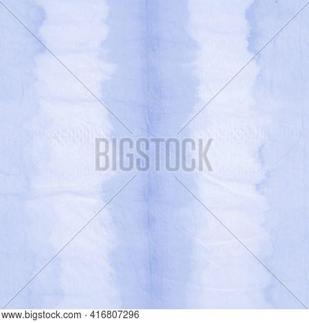 Indigo Shibori Pattern. Space Abstract Ethnic Background. Ocean Ink Paint Surface. Night Geometric E