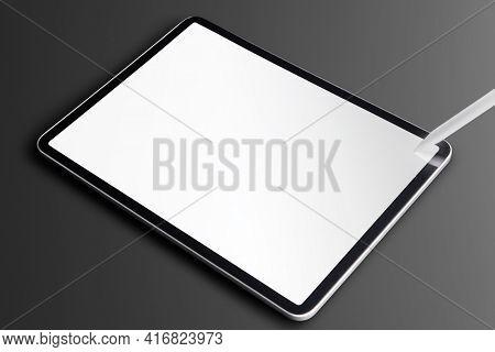 Digital tablet mockup for online learning