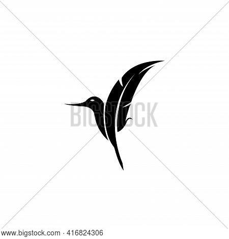 Simple Colibri Brand Identity Company Vector Illustration
