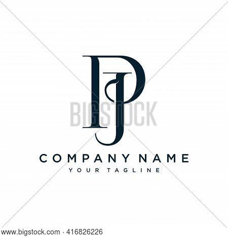 Alphabet Letters Initials Monogram Logo Pj.illustration Vector