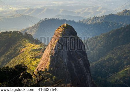 Spectacular View Of Doi Nork An Iconic Huge Grey Black Rock In Doi Luang National Park In Phayao Pro
