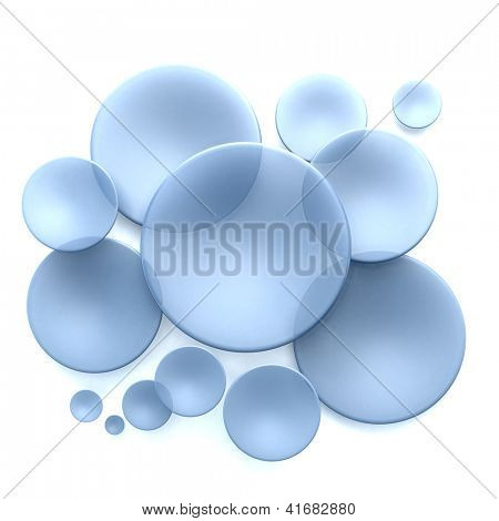 Abstract background with blue transparent disks