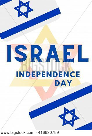 Israel Independence Day, 29th April Israel Happy Independence Day. Illustration Of Freedom Of Israel