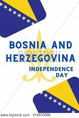 Bosnia And Herzegovina Independence Day, 1th March Bosnia And Herzegovina Happy Independence Day. Il