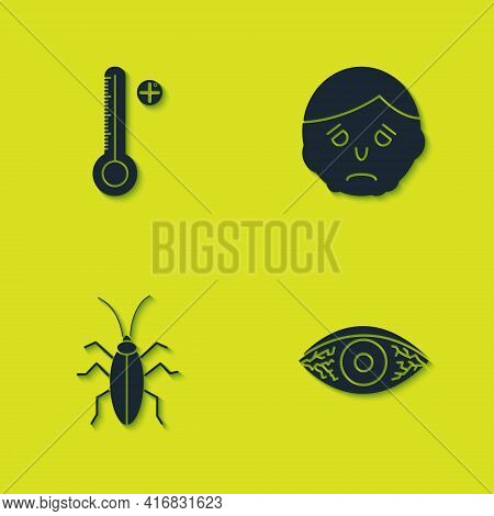 Set Medical Digital Thermometer, Reddish Eye Allergic Conjunctivitis, Cockroach And Inflammation Fac