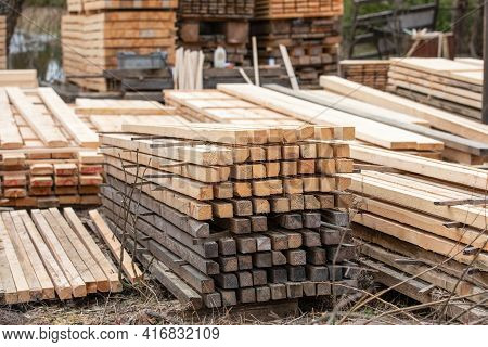 Timber Storage And Sawing. Building Materials, Production And Distribution. Local Business