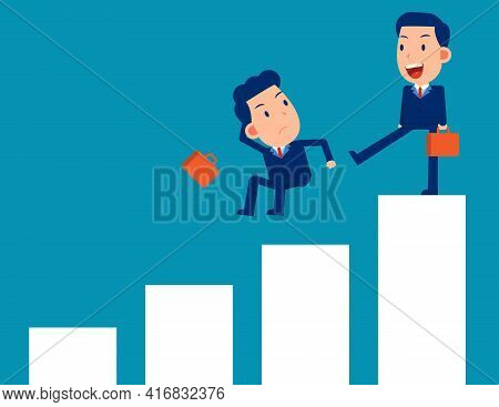 Fighting And Competition. Business Person Punish Partnershi