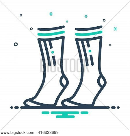 Mix Icon For Socks Pair Comfortable Garment Foot
