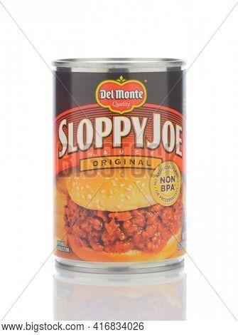 IRVINE, CALIFORNIA - MAY 23, 2019:  A can of Del Monte Sloppy Joe Sauce Original Flavor.