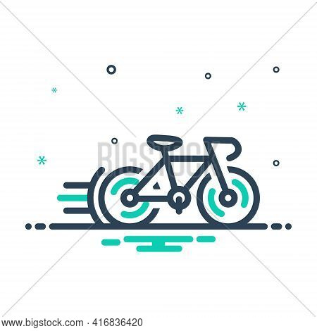 Mix Icon For Cycle-race Bicycle  Competition  Cycle   Cycleing  Race  Street