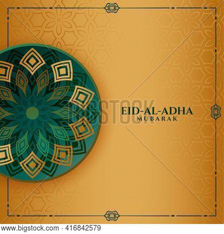 Islamic Eid Al Adha Islamic Festival Greeting Design