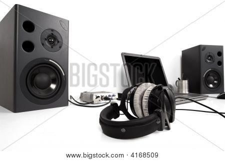 Speakers On Desk
