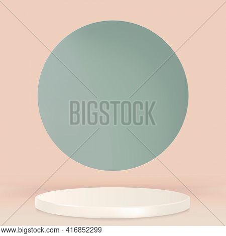 Display podium 3D rendering minimal pastel product backdrop