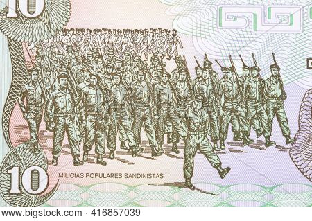 Branch Of The Sandinista People's Militia From Nicaragua Money