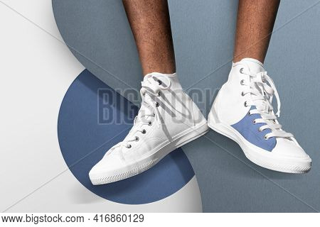 Cool canvas sneakers men's apparel summer fashion photoshoot