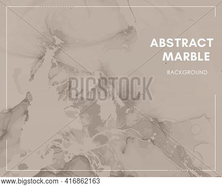 Vector Alcohol Inks. Watercolor Marble Paint. Simple Art Invitation. Luxury Grunge Pattern. Fluid Al