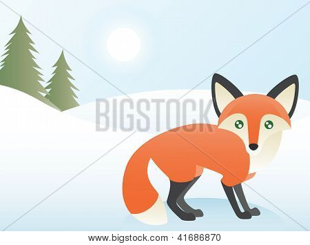 Abstract Fox Scene