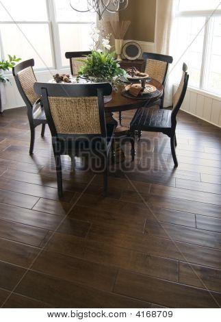 Hardwood Flooring In Dinning Room