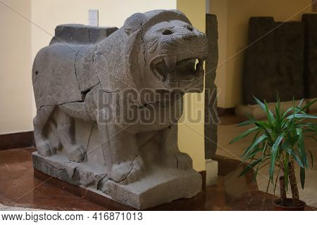 Istanbul, Turkey - January 27, 2021: Statue In Istanbul Archaeological Museums Where Was Built In 18