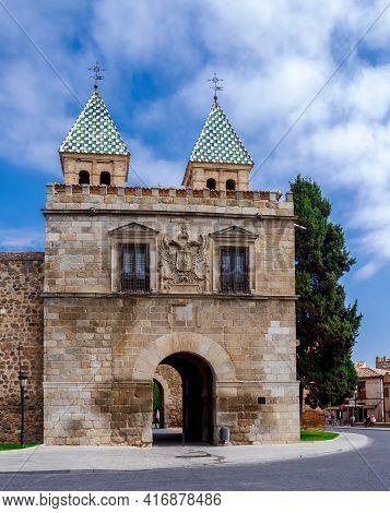 Puerta De Bisagra Or Alfonso Vi Gate. Inner Side. Toledo, Castilla La Mancha, Spain.