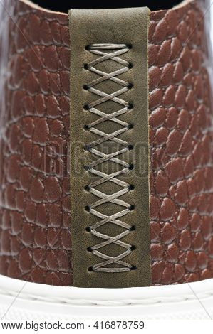 Stitches On Back Of Leather Shoes