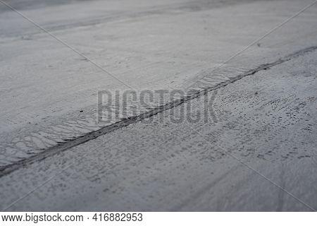 Waterproofing Flat Roof Terrace With Roll Bitumen
