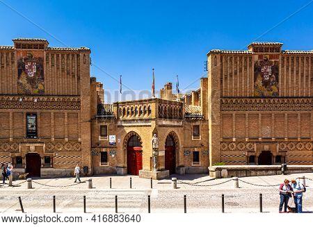 Toledo,  Castilla La Mancha, Spain - 12 May 2013: Toledo School Of Art In The Street Of The Catholic