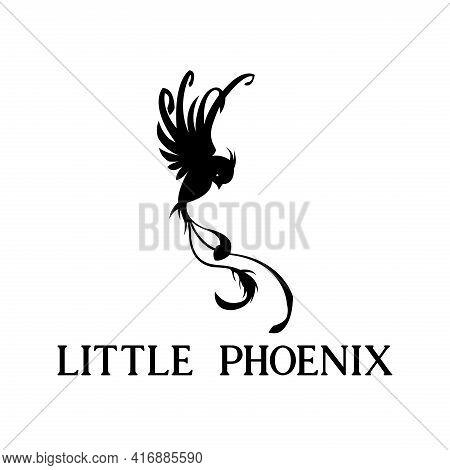 Phoenix Design Logo Vector. Phoenix Animal Vector