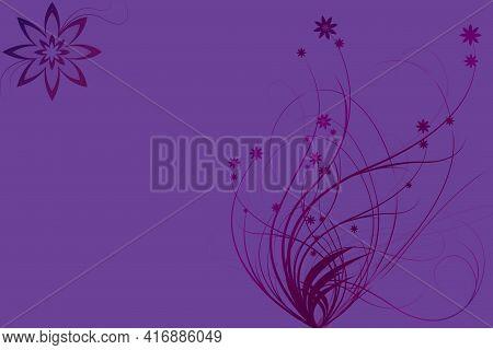 Fantastic And Wonderful Flower Background Design Illustration