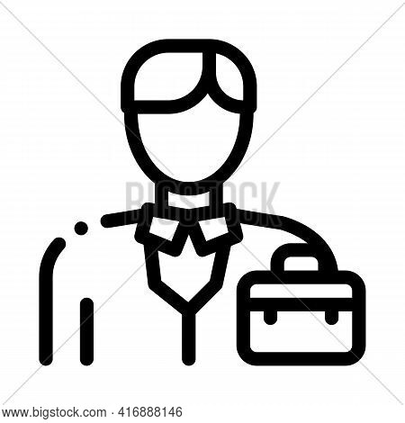 Businessman Employee Line Icon Vector. Businessman Employee Sign. Isolated Contour Symbol Black Illu