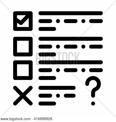 Fail Task Of Audit Line Icon Vector. Fail Task Of Audit Sign. Isolated Contour Symbol Black Illustra