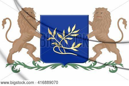 3d Rijswijk Coat Of Arms (south Holland), Netherlands. 3d Illustration.
