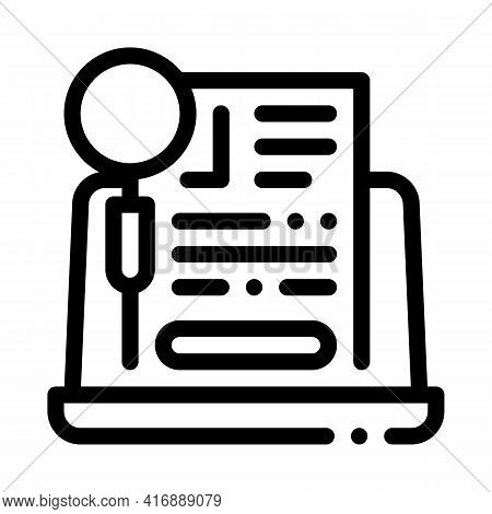 Agreement Research Identity Line Icon Vector. Agreement Research Identity Sign. Isolated Contour Sym