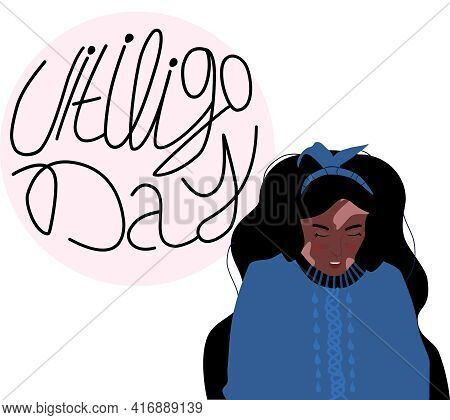 World Vitiligo Day.young Afro American Woman With Skin Disease.pigmentation Problem,white Spots.patc