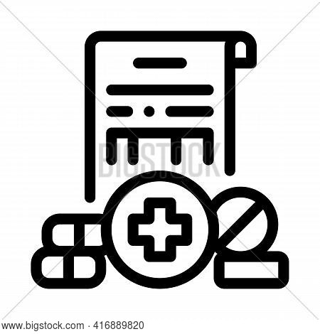 Pharmaceutical License Line Icon Vector. Pharmaceutical License Sign. Isolated Contour Symbol Black