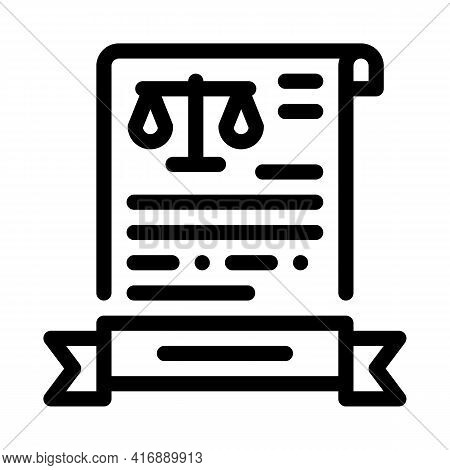 Legal Activity License Line Icon Vector. Legal Activity License Sign. Isolated Contour Symbol Black