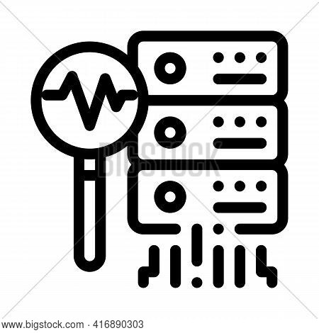 Analyze Of Machine Learning Line Icon Vector. Analyze Of Machine Learning Sign. Isolated Contour Sym