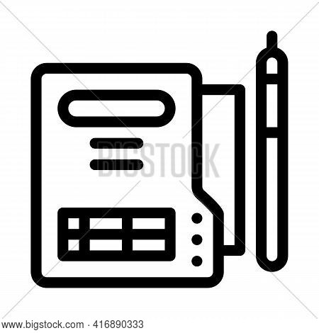 Document Policy Line Icon Vector. Document Policy Sign. Isolated Contour Symbol Black Illustration