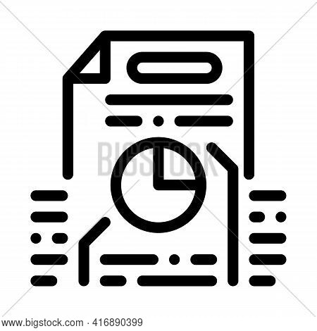 Strategy Policy Line Icon Vector. Strategy Policy Sign. Isolated Contour Symbol Black Illustration