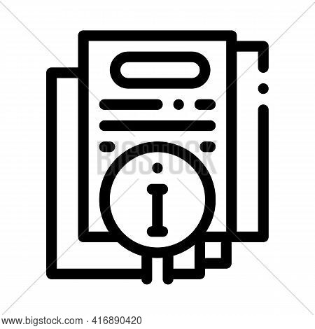 Corporate Compliance Policy Line Icon Vector. Corporate Compliance Policy Sign. Isolated Contour Sym