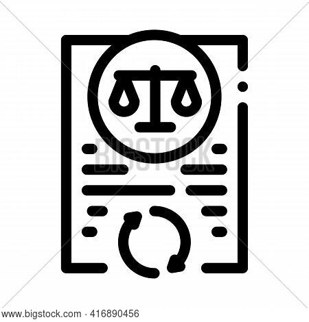 Legal Regulation Policy Line Icon Vector. Legal Regulation Policy Sign. Isolated Contour Symbol Blac