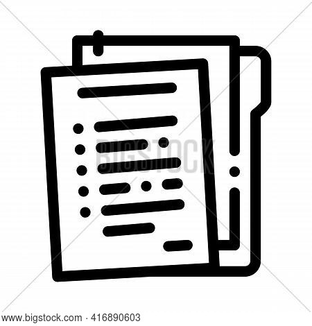 Paper Policy Line Icon Vector. Paper Policy Sign. Isolated Contour Symbol Black Illustration