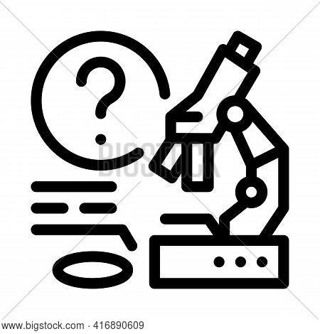 Laboratory Researcher Line Icon Vector. Laboratory Researcher Sign. Isolated Contour Symbol Black Il