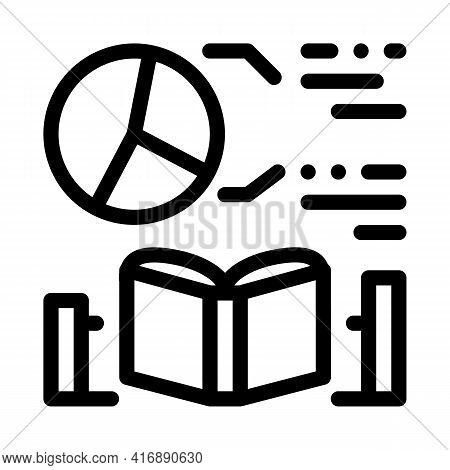 Mathematics Researcher Line Icon Vector. Mathematics Researcher Sign. Isolated Contour Symbol Black