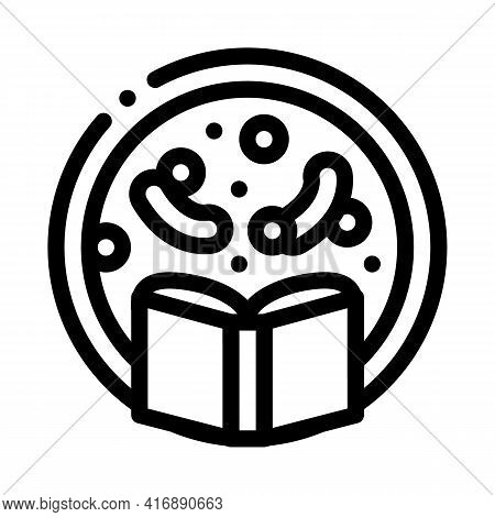 Biology Researcher Line Icon Vector. Biology Researcher Sign. Isolated Contour Symbol Black Illustra